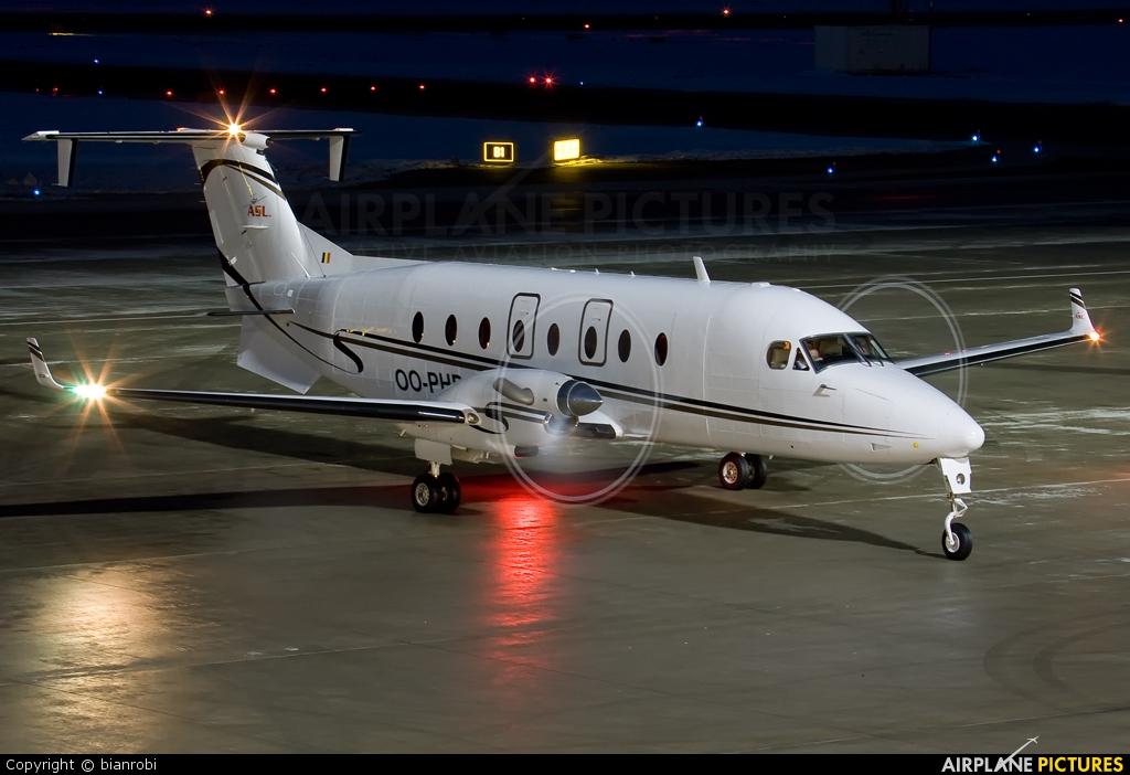 Air Service Liege OO-PHB aircraft at Innsbruck