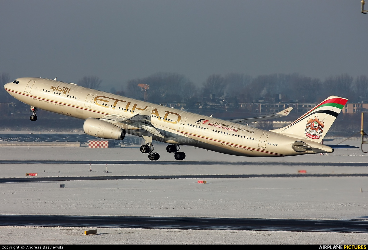 Etihad Airways A6-AFF aircraft at Düsseldorf
