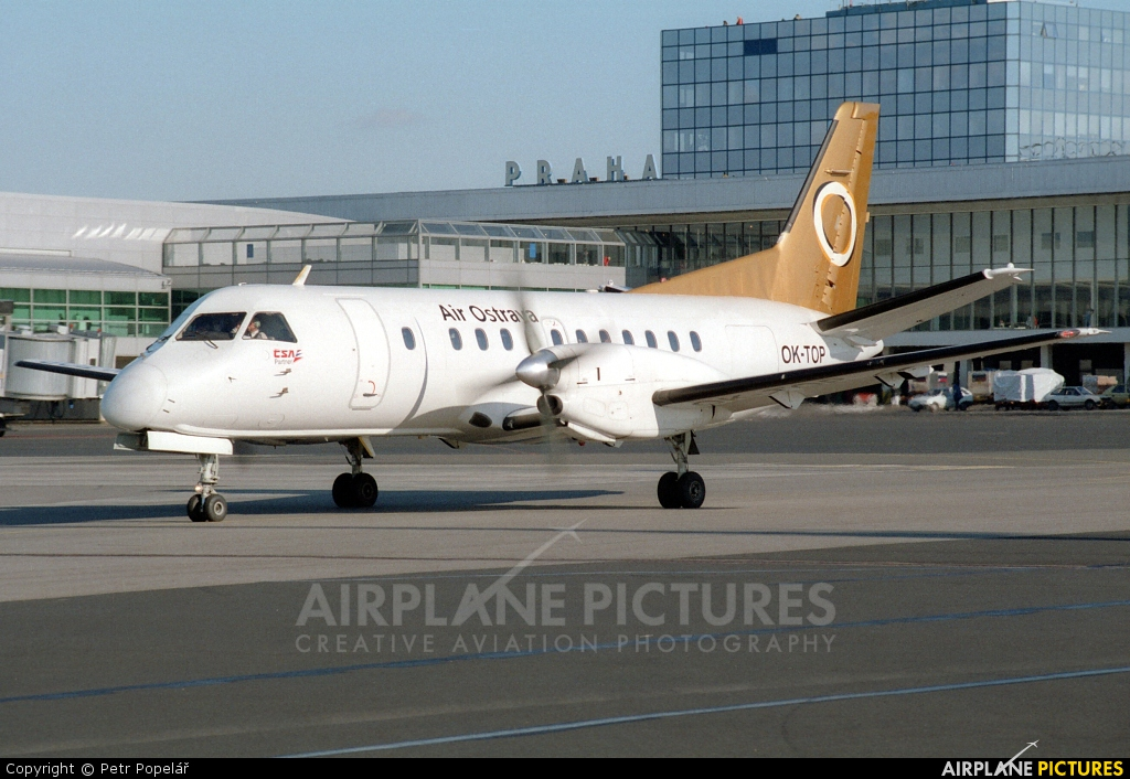 Air Ostrava OK-TOP aircraft at Prague - Václav Havel