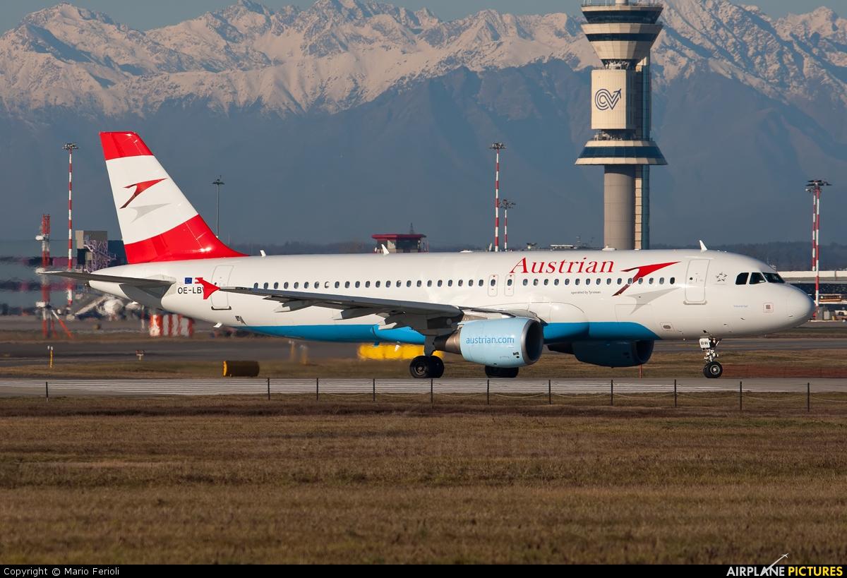 Austrian Airlines/Arrows/Tyrolean OE-LBW aircraft at Milan - Malpensa