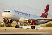 N855VA - Virgin America Airbus A320 aircraft