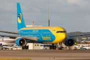 Aerosvit B767 in St. Maarten title=