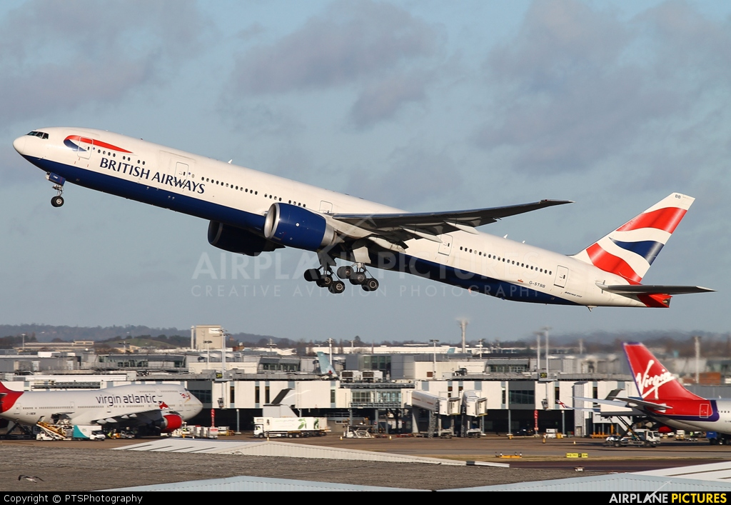 British Airways G-STBB aircraft at London - Heathrow