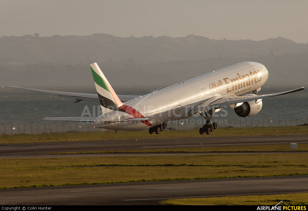 Emirates Airlines A6-ECQ aircraft at Auckland Intl
