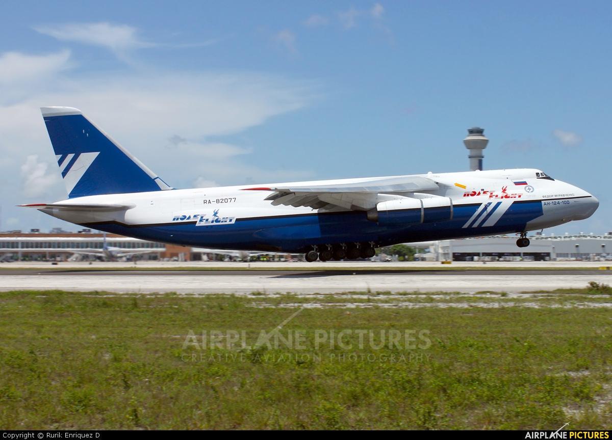 Polet Flight RA-82077 aircraft at Cancun Intl