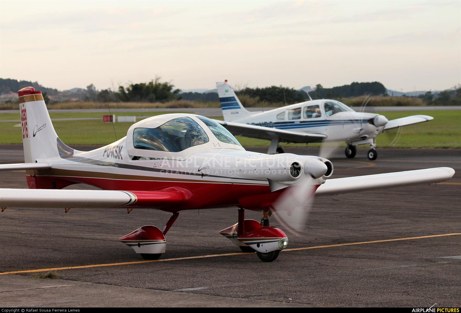 Private PU-KSK aircraft at São José dos Campos, SP