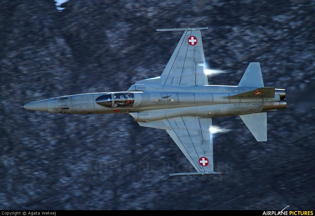 Switzerland - Air Force J-3074 aircraft at Axalp - Ebenfluh Range