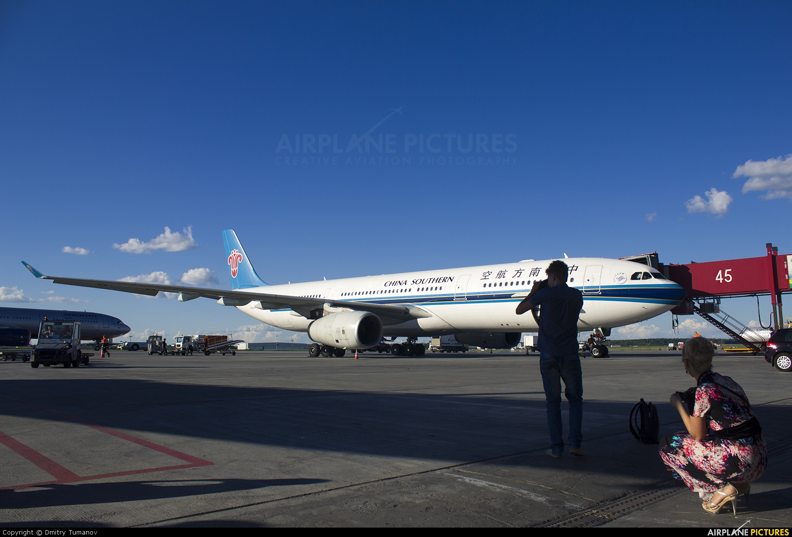 China Southern Airlines B-6111 aircraft at Moscow - Sheremetyevo