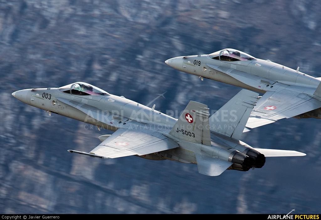 Switzerland - Air Force J-5003 aircraft at Axalp - Ebenfluh Range
