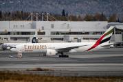 Emirates cargo 777 at Anchorage title=