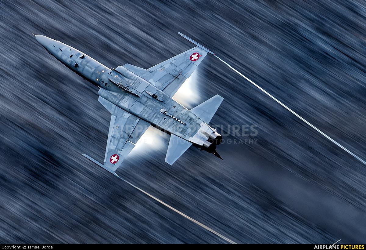 Switzerland - Air Force J-3068 aircraft at Axalp - Ebenfluh Range