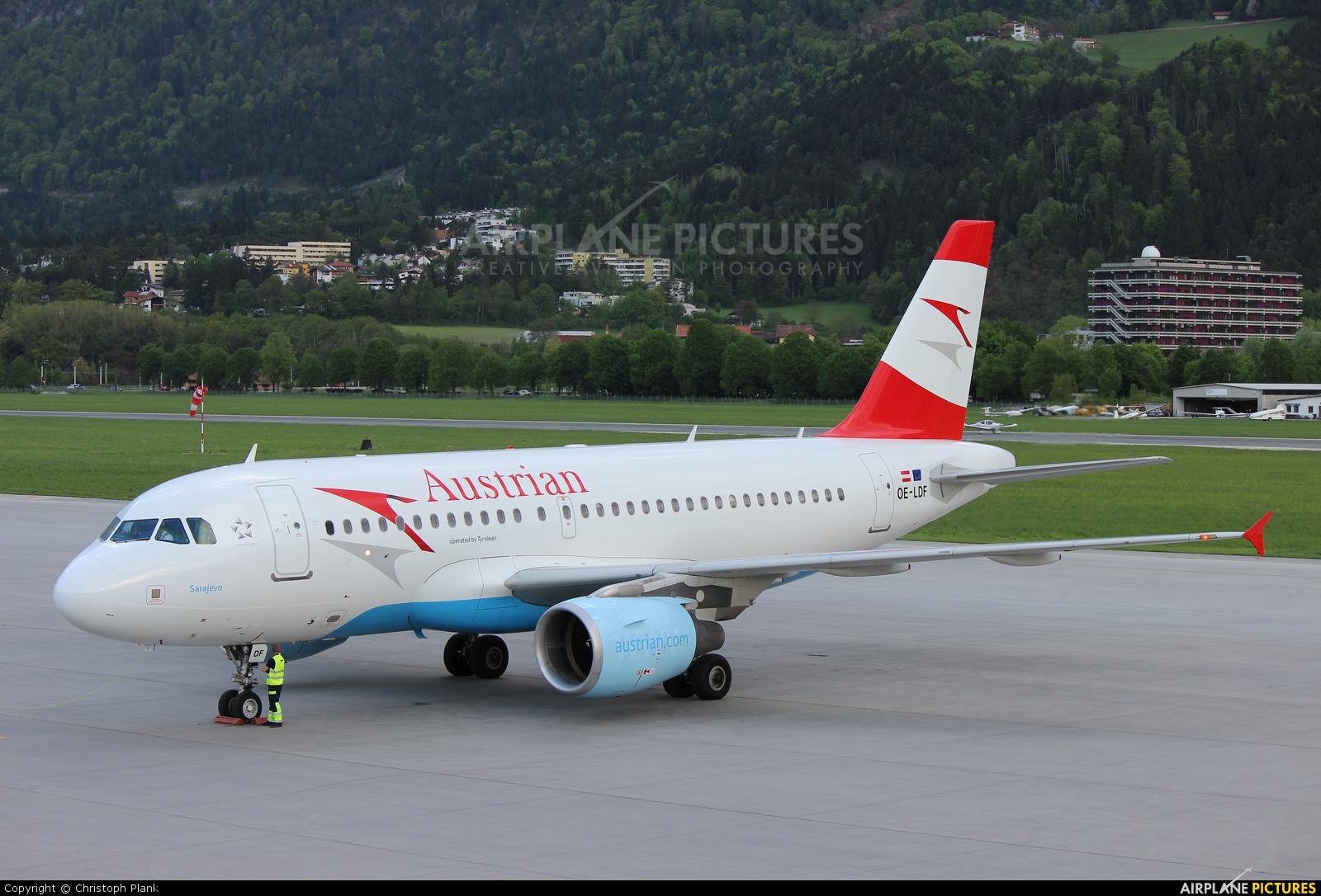 Austrian Airlines/Arrows/Tyrolean OE-LDF aircraft at Innsbruck