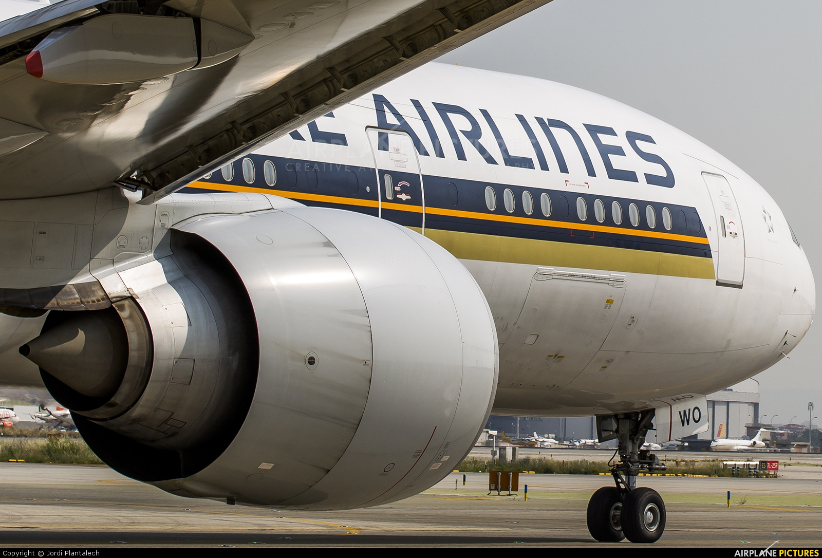 Singapore Airlines 9V-SWO aircraft at Barcelona - El Prat