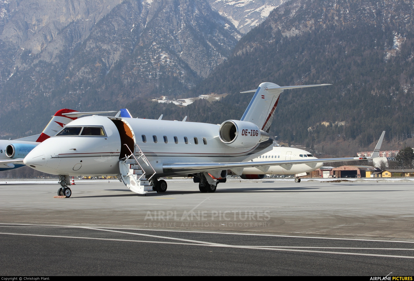 Private OE-IDG aircraft at Innsbruck