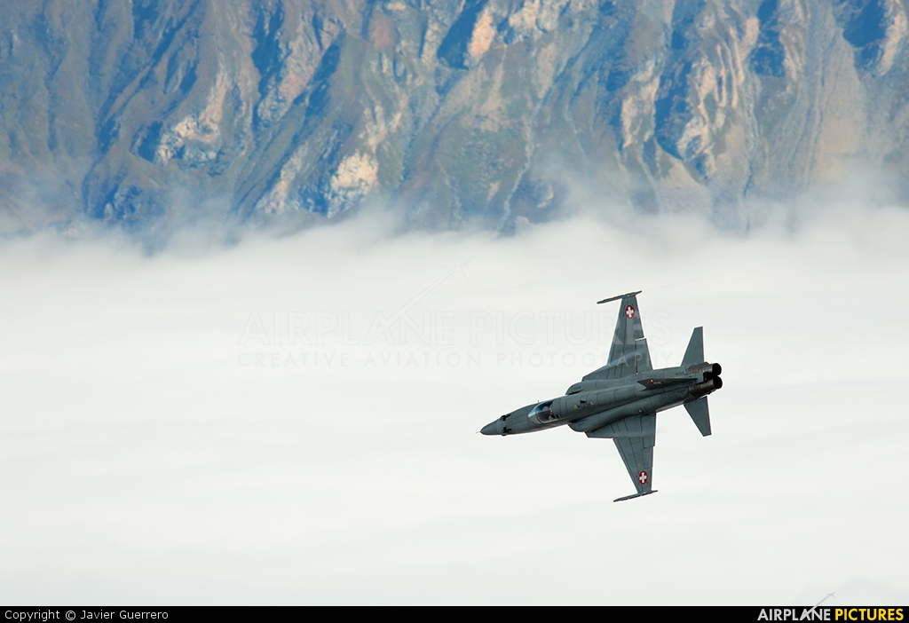 Switzerland - Air Force J-3033 aircraft at Axalp - Ebenfluh Range