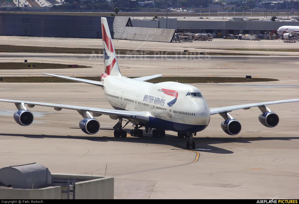 British Airways G-CIVS aircraft at Miami Intl