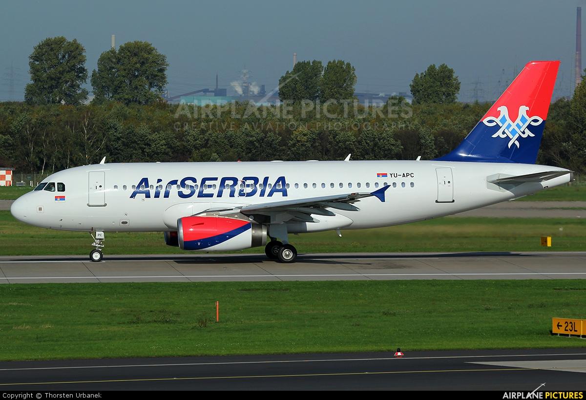 Air Serbia YU-APC aircraft at Düsseldorf