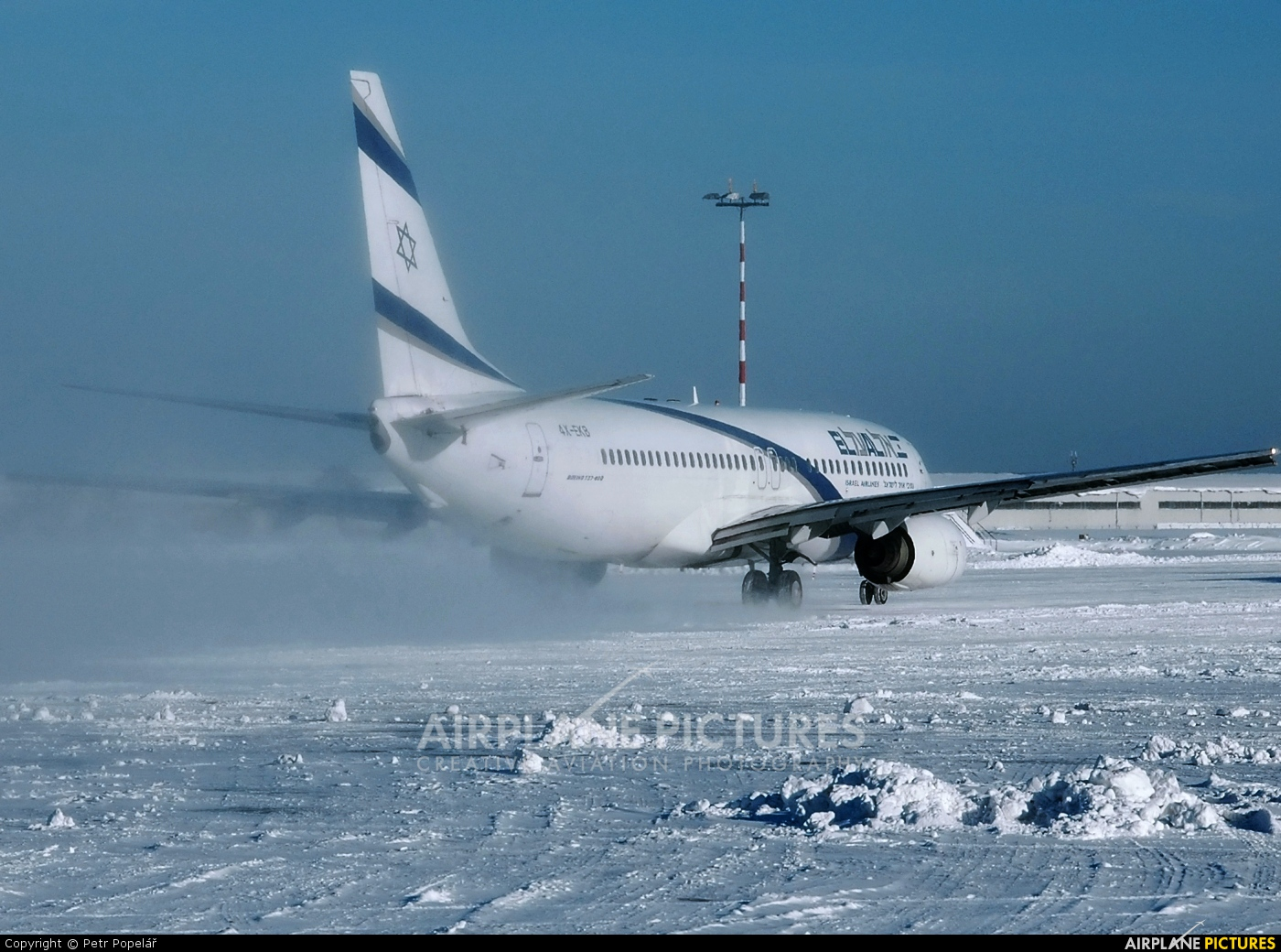 El Al Israel Airlines 4X-EKB aircraft at Prague - Václav Havel