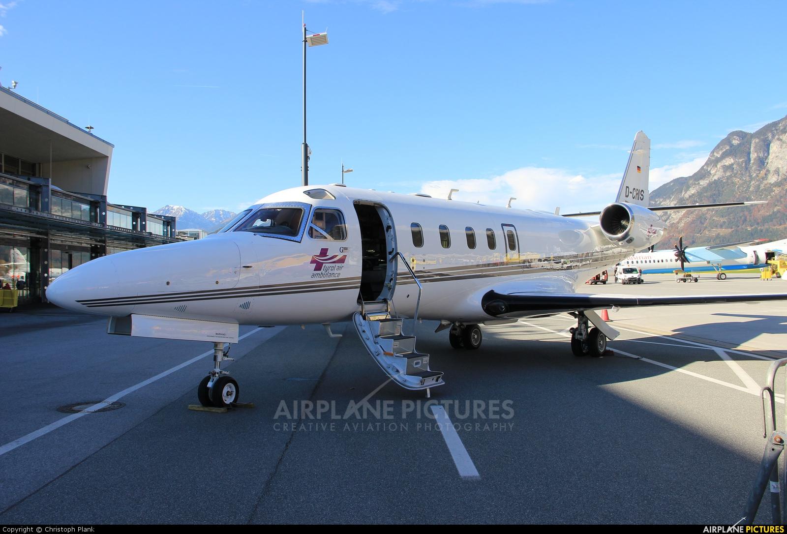 Tyrol Air Ambulance D-CRIS aircraft at Innsbruck