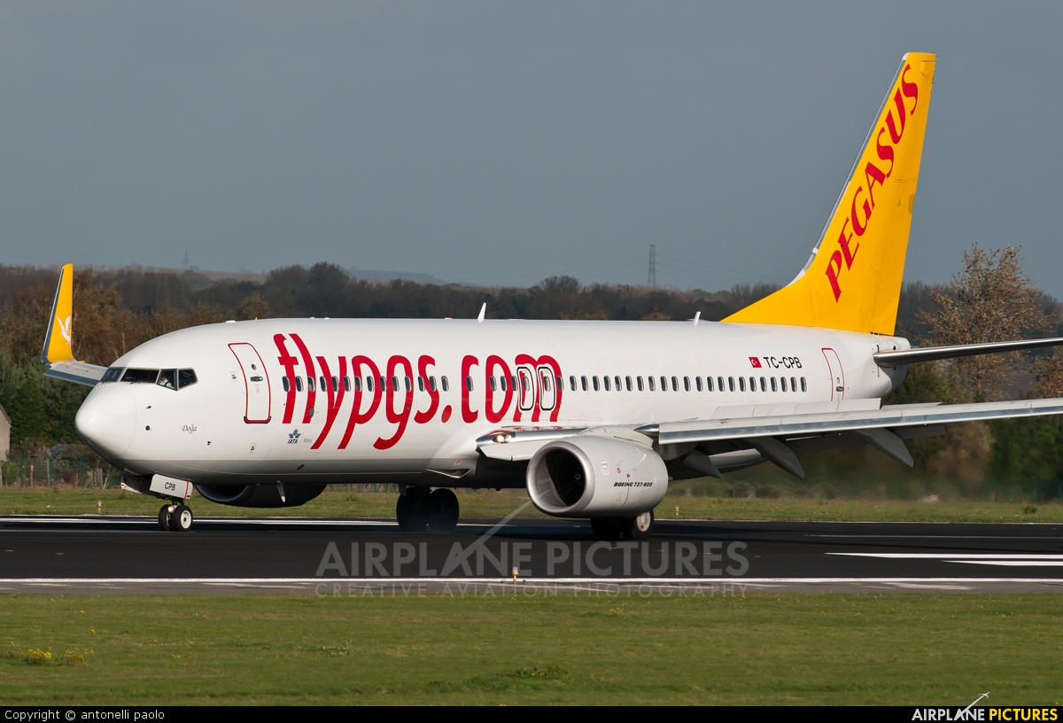 Pegasus TC-CPB aircraft at Brussels - Zaventem