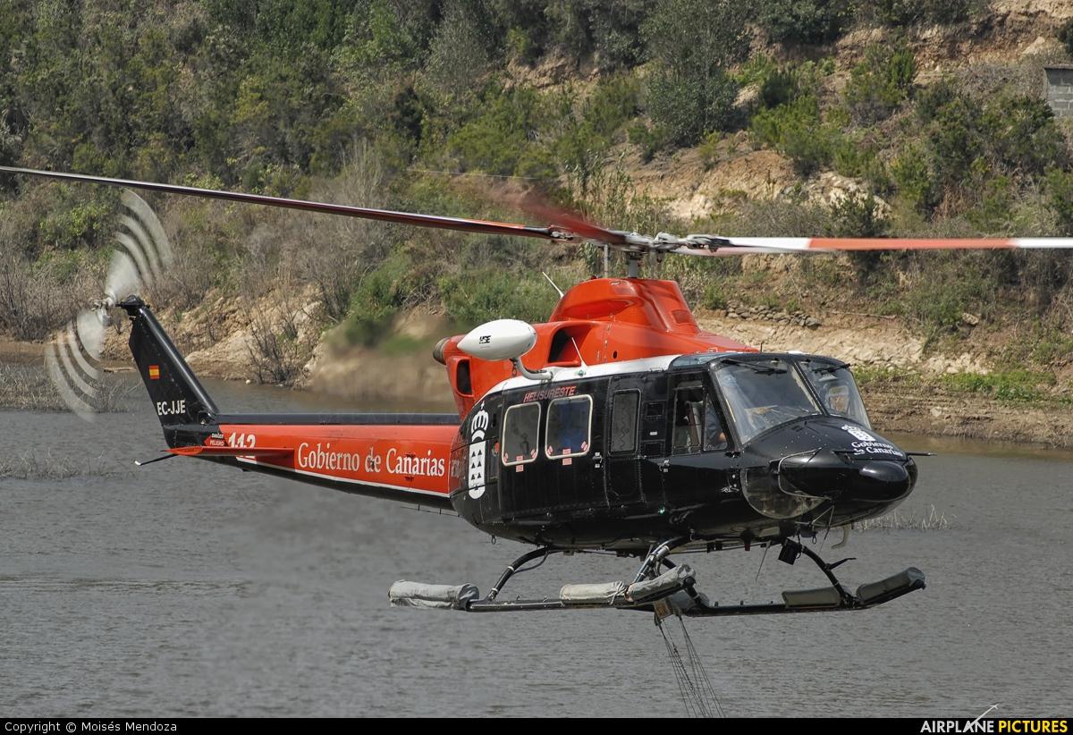 Helisureste EC-JJE aircraft at La Gomera