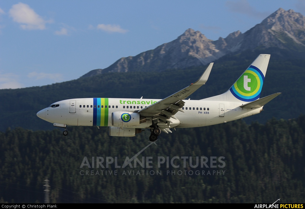 Transavia PH-XRB aircraft at Innsbruck