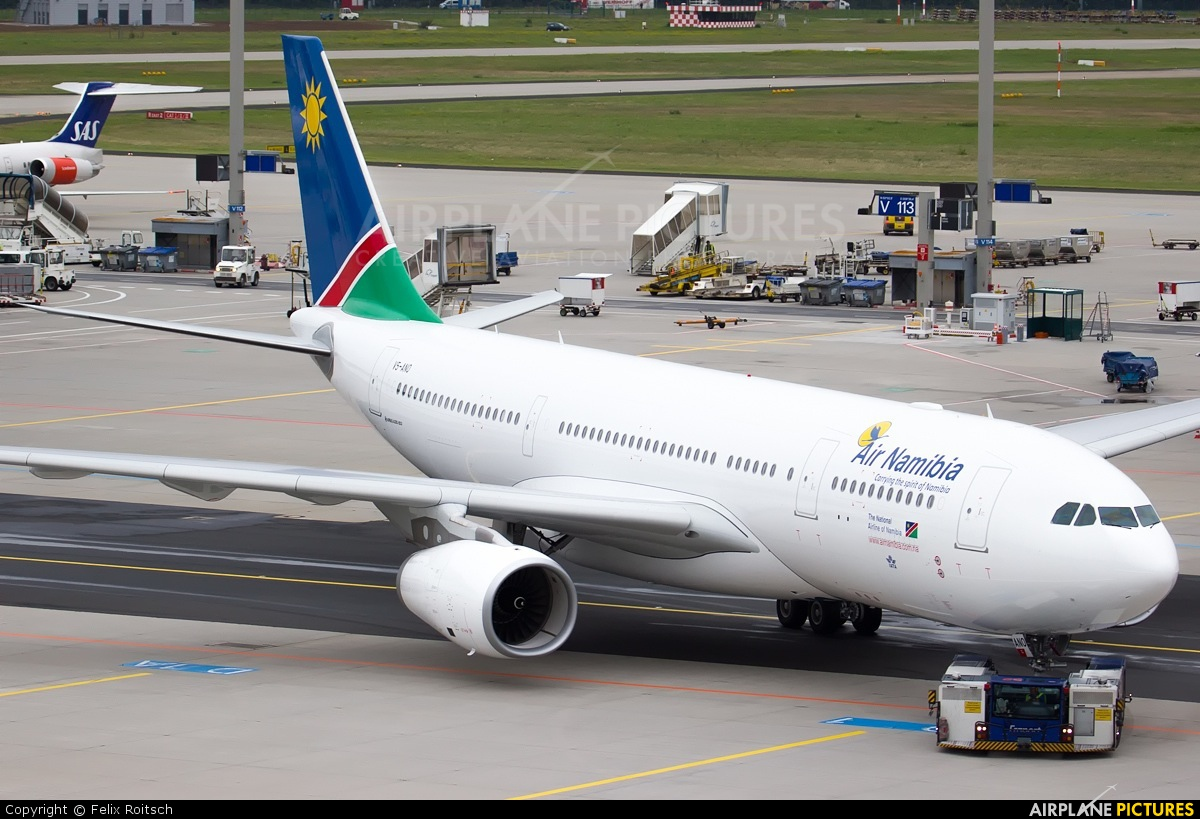 Air Namibia V5-ANO aircraft at Frankfurt