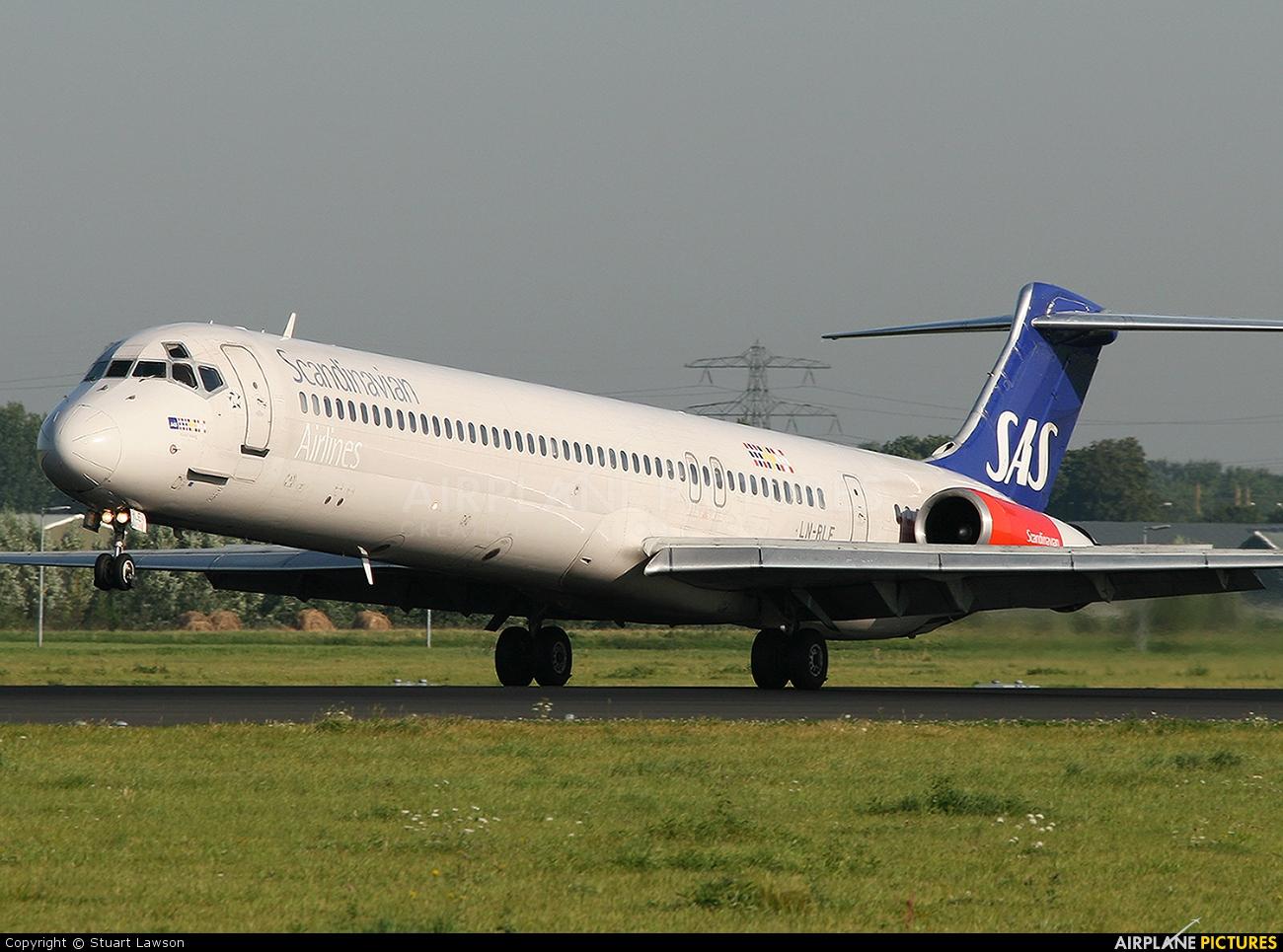 SAS - Scandinavian Airlines LN-RLE aircraft at Amsterdam - Schiphol