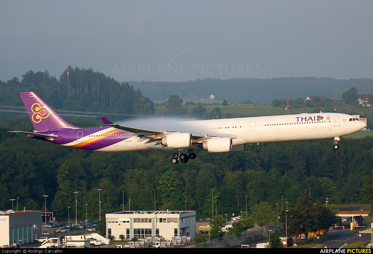 Thai Airways HS-TNF aircraft at Zurich