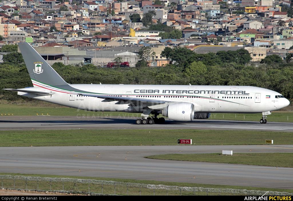Ceiba Intercontinental CS-TQX aircraft at São Paulo - Guarulhos