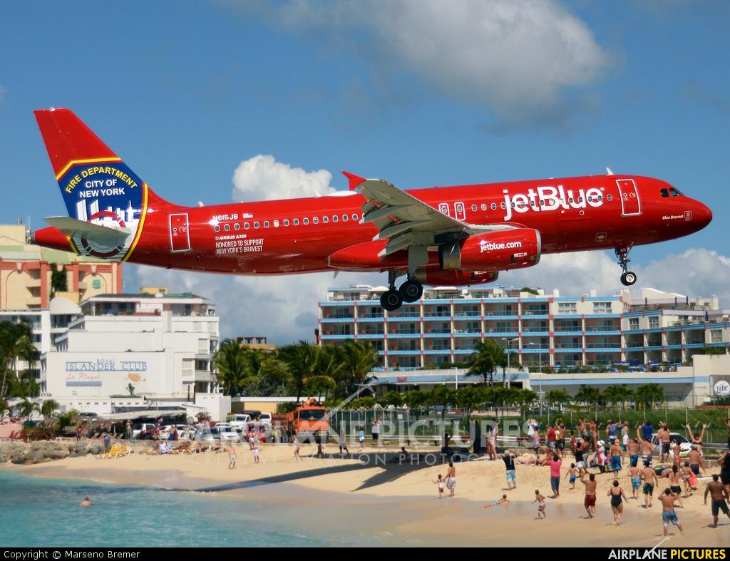 JetBlue Airways N615JB aircraft at Sint Maarten - Princess Juliana Intl