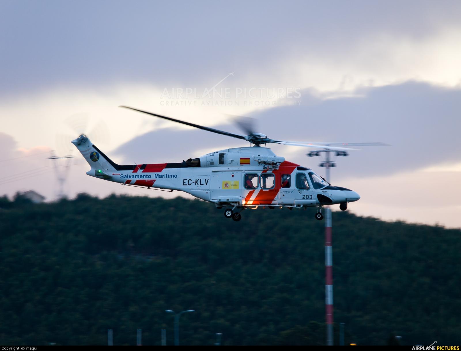 Spain - Coast Guard EC-KLV aircraft at La Coruña