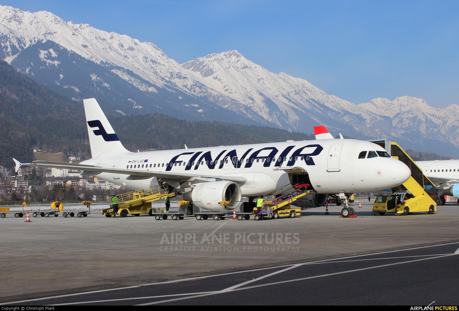 Finnair OH-LXC aircraft at Innsbruck