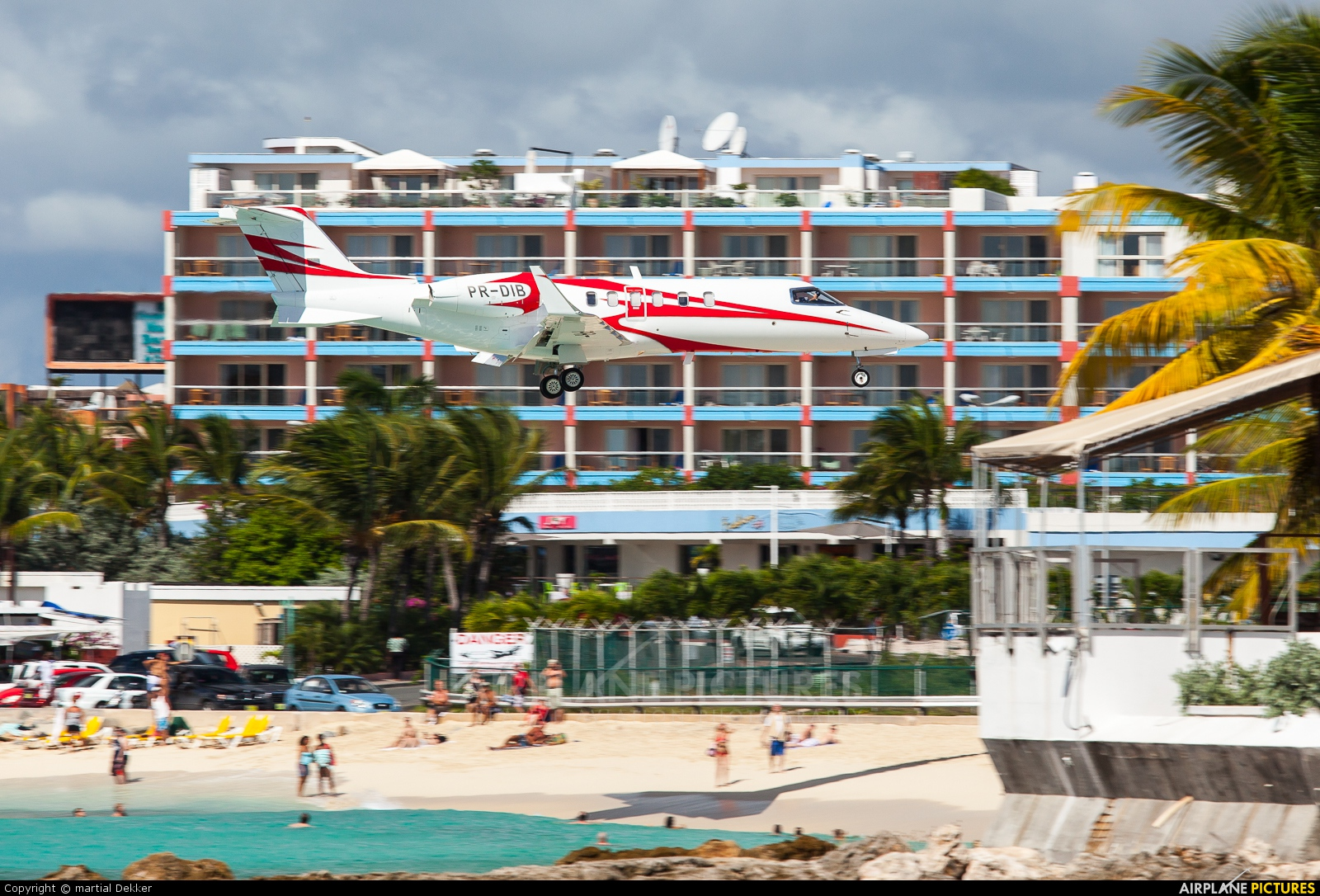 Private PR-DIB aircraft at Sint Maarten - Princess Juliana Intl