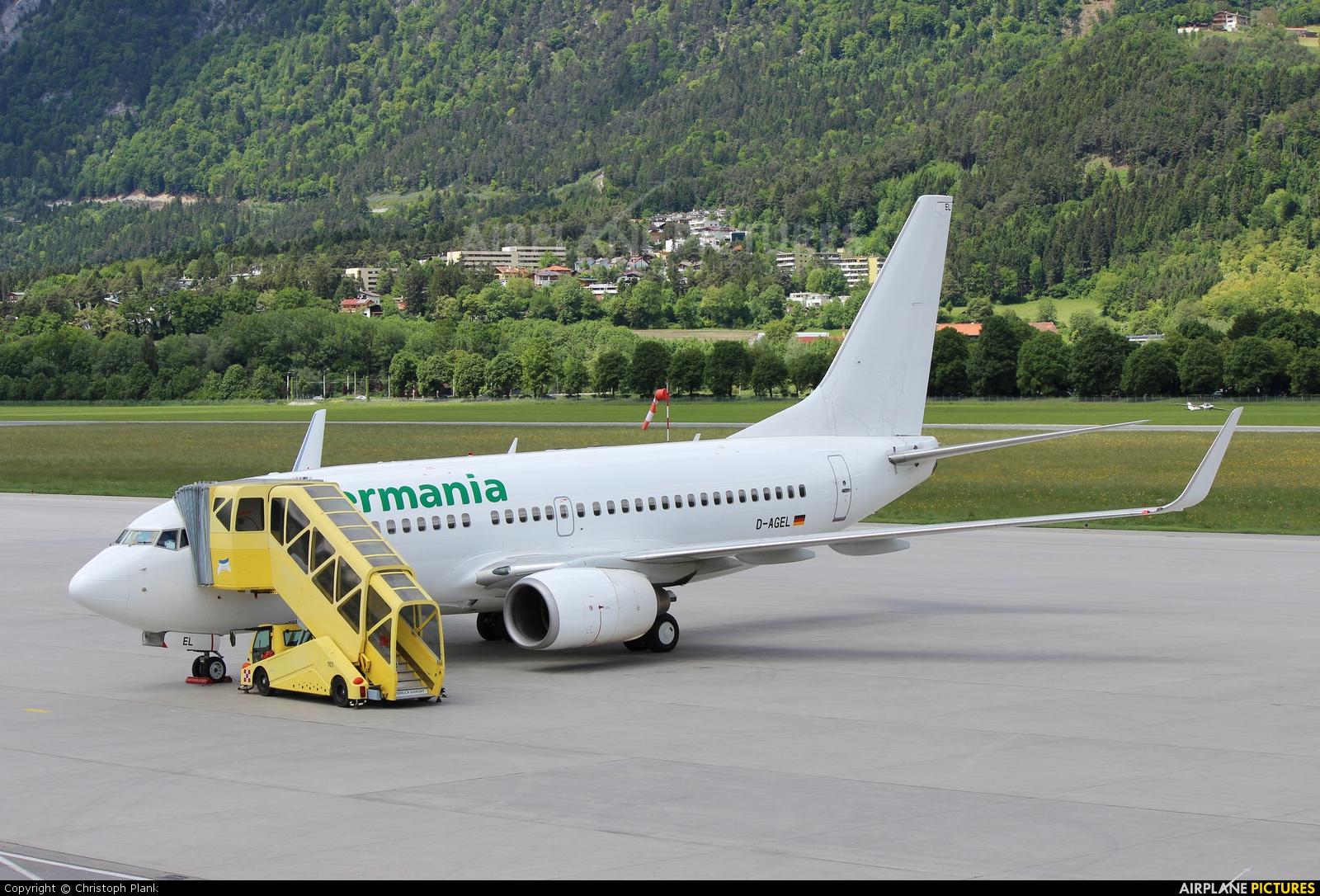 Germania D-AGEL aircraft at Innsbruck