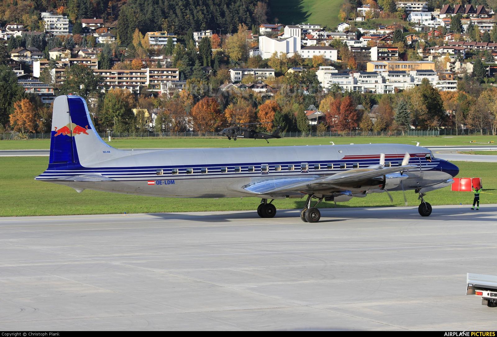 The Flying Bulls OE-LDM aircraft at Innsbruck