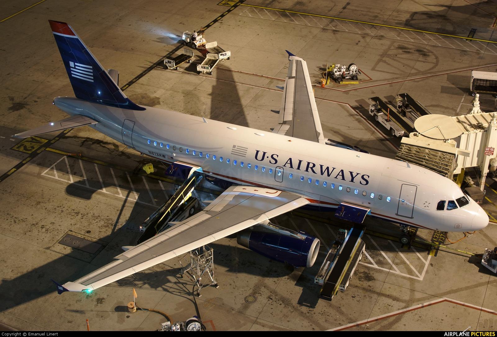 US Airways N813AW aircraft at Phoenix - Sky Harbor Intl