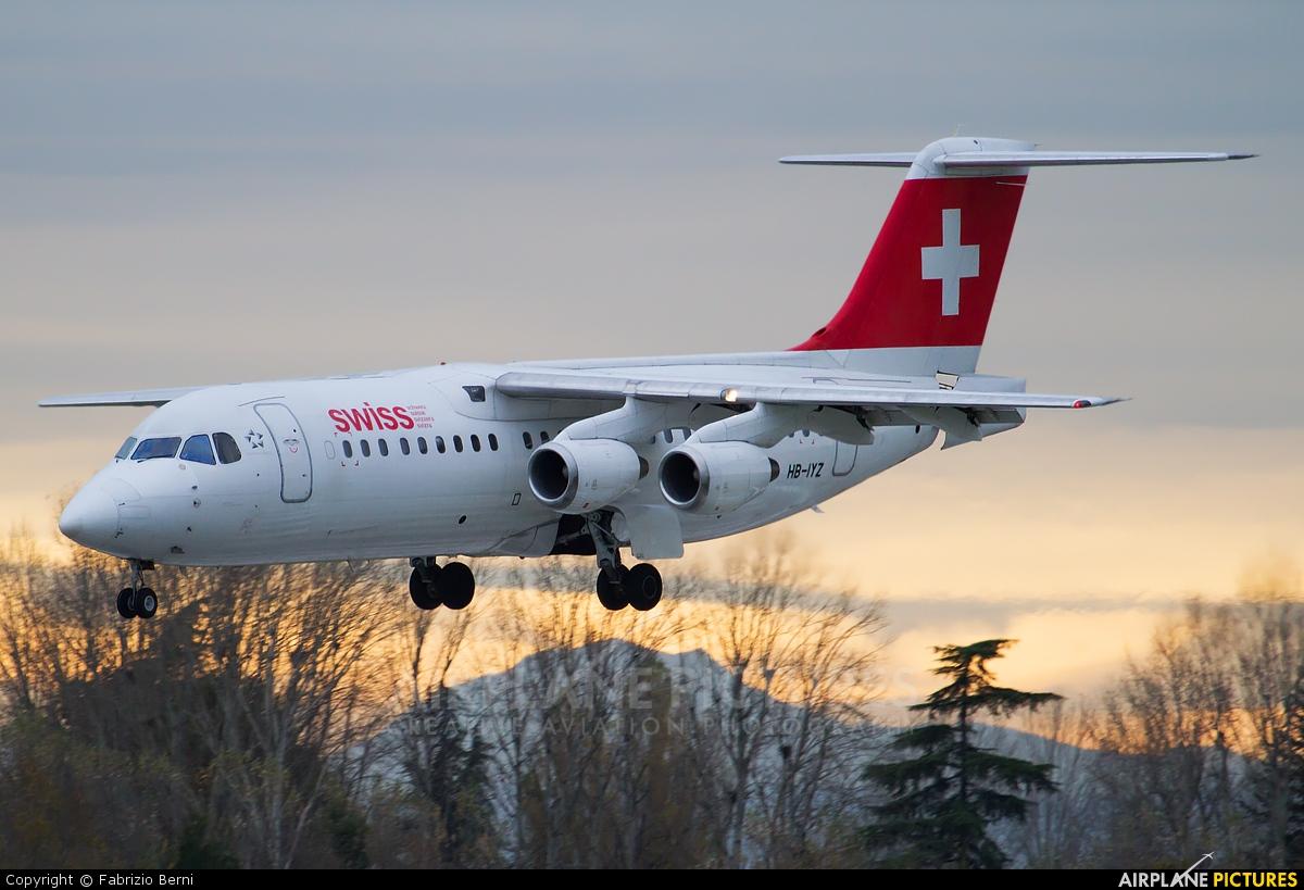 Swiss HB-IYZ aircraft at Bologna - Borgo Panigale