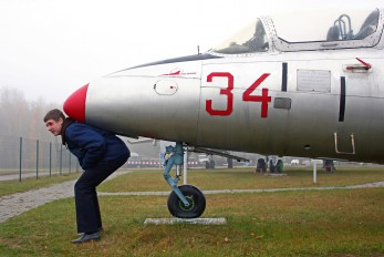34 RED - Belarus - Air Force Aero L-29 Delfín