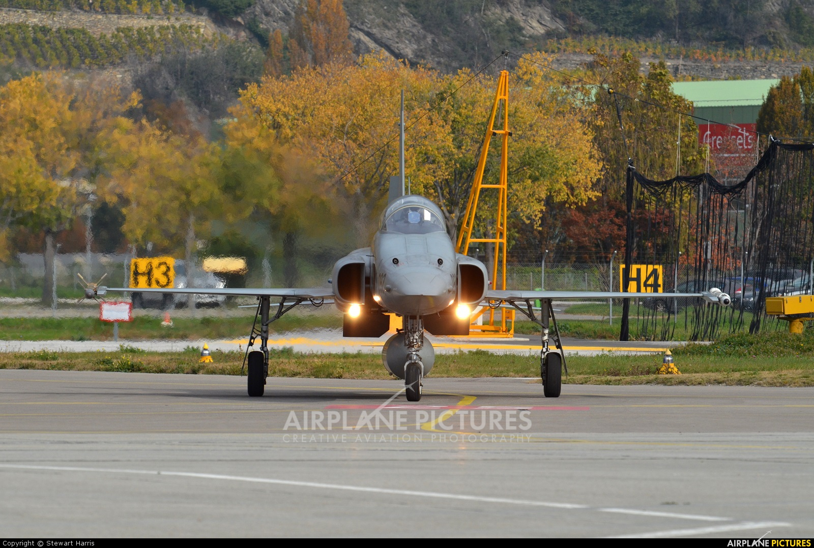 Switzerland - Air Force J-3092 aircraft at Sion