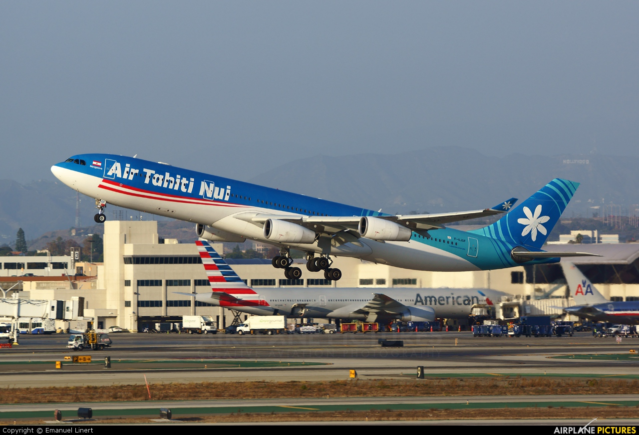 Air Tahiti Nui F-OJGF aircraft at Los Angeles Intl
