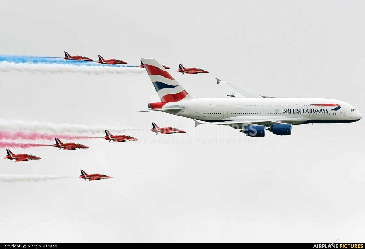 British Airways G-XLEA aircraft at Fairford