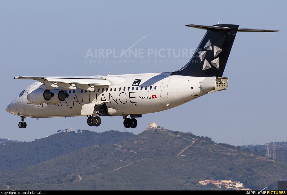 Swiss HB-IYU aircraft at Barcelona - El Prat