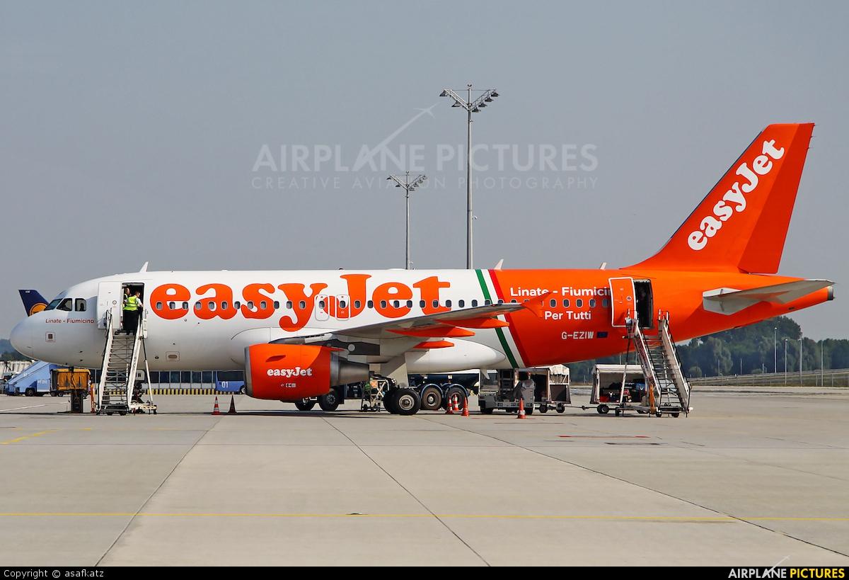 easyJet G-EZIW aircraft at Munich