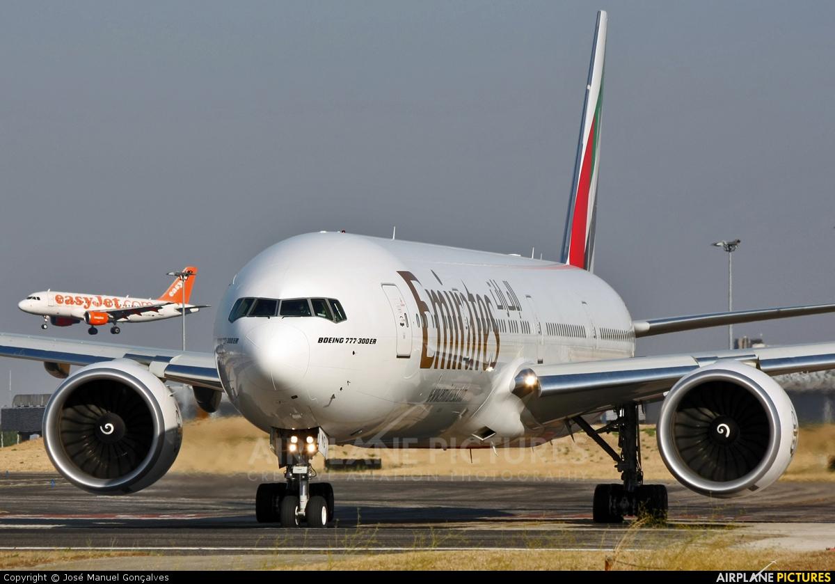 Emirates Airlines A6-ENG aircraft at Lisbon