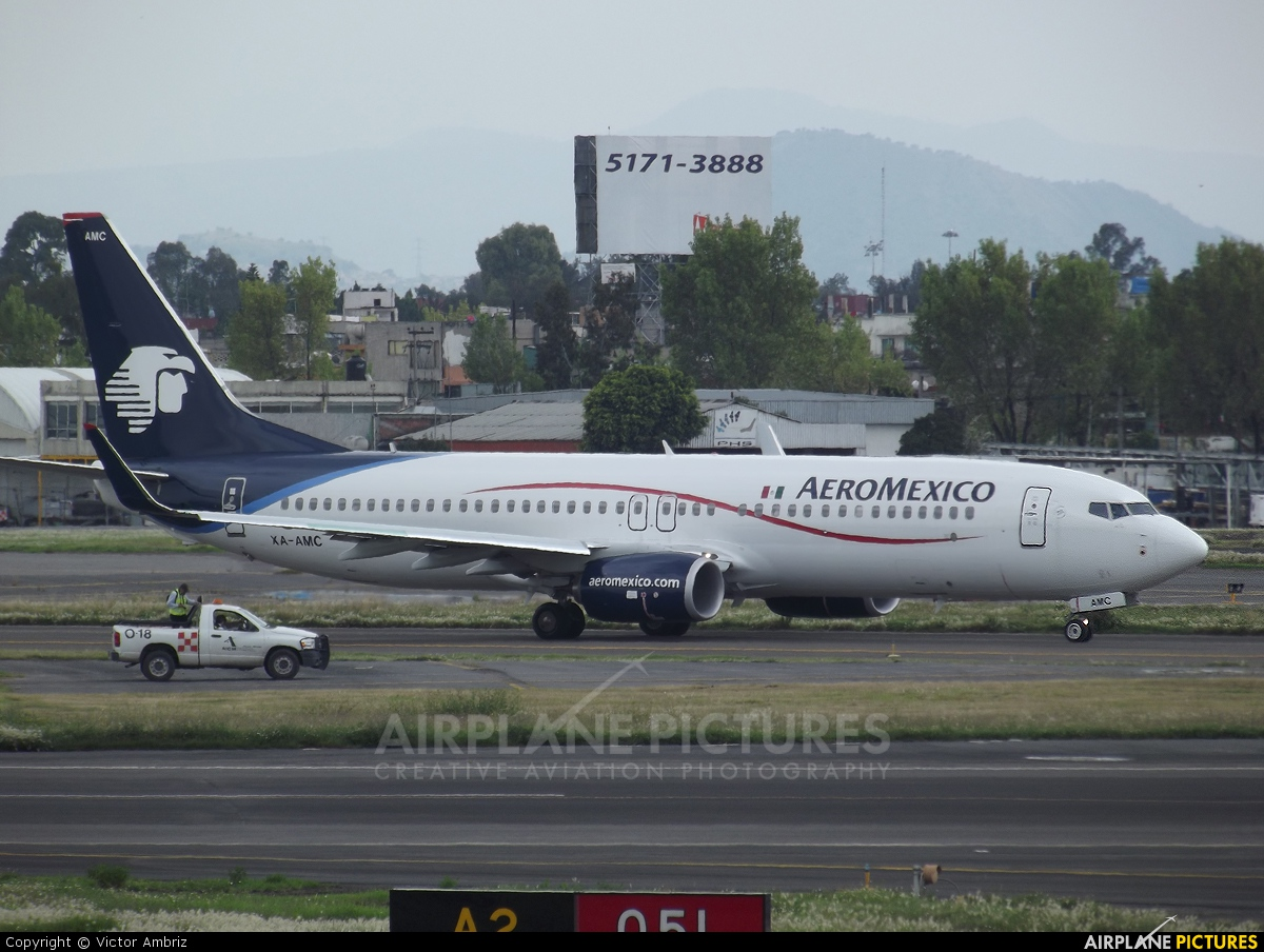 Aeromexico XA-AMC aircraft at Mexico City - Licenciado Benito Juarez Intl
