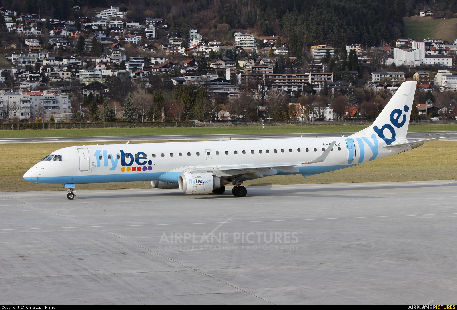Flybe G-FBED aircraft at Innsbruck