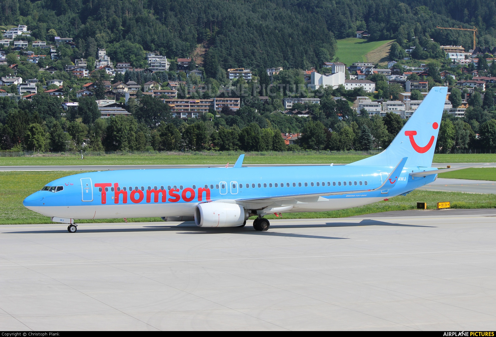 Thomson/Thomsonfly G-TAWJ aircraft at Innsbruck