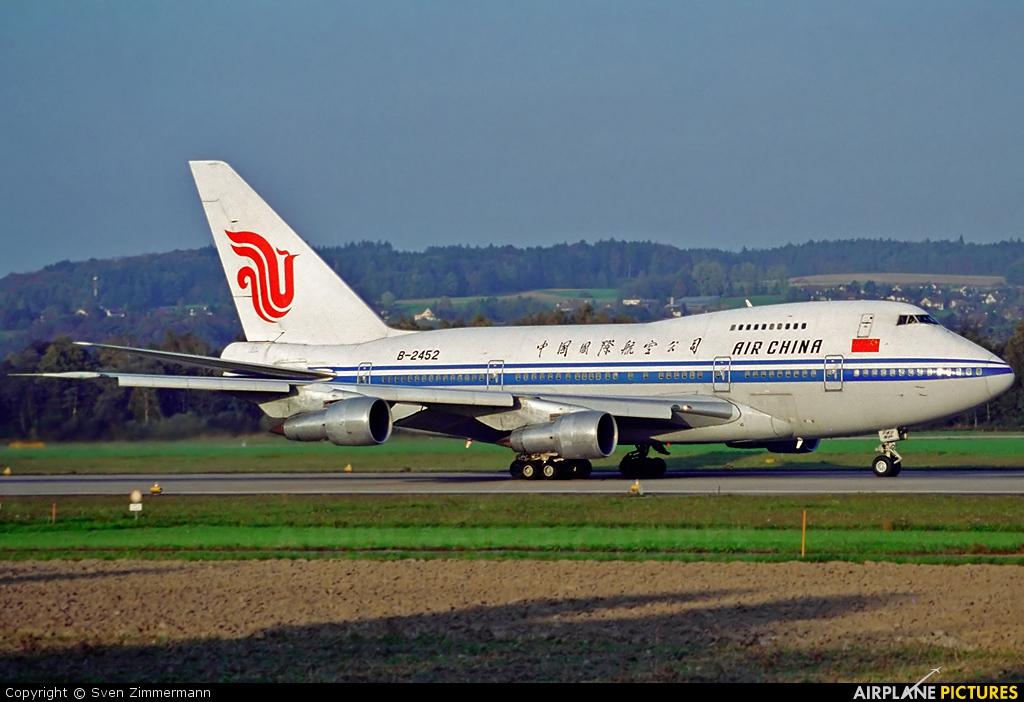 Air China B-2452 aircraft at Zurich