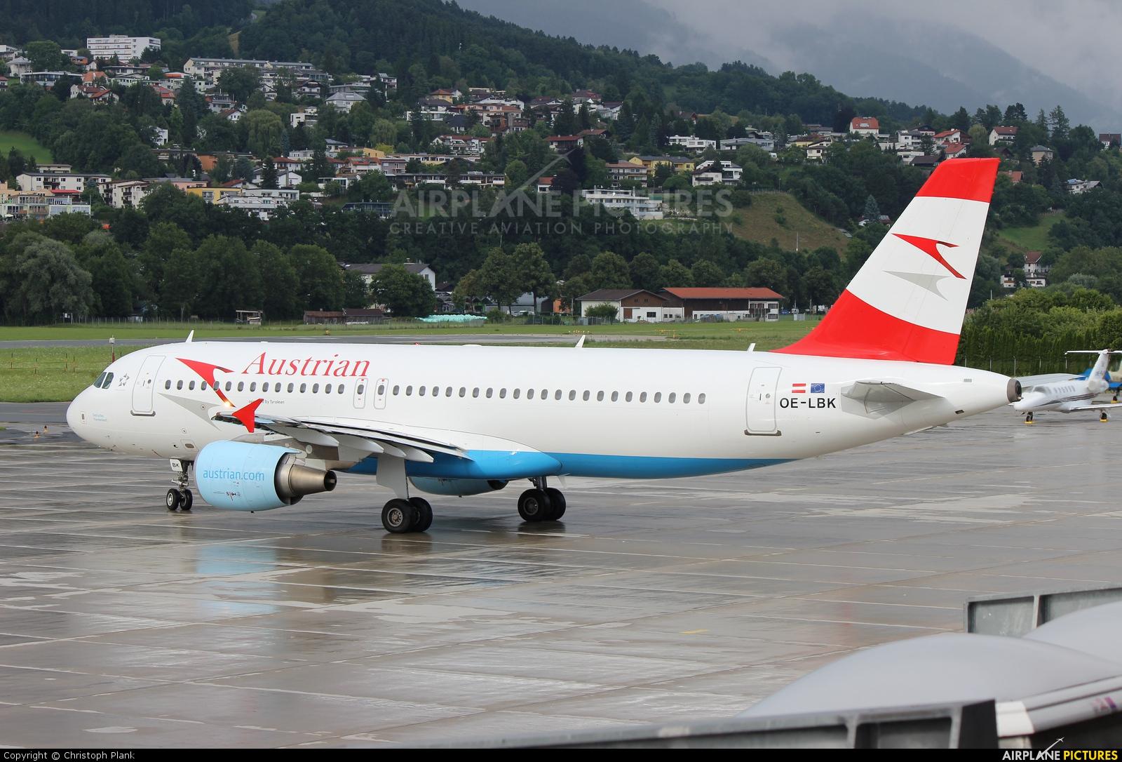 Austrian Airlines/Arrows/Tyrolean OE-LBK aircraft at Innsbruck